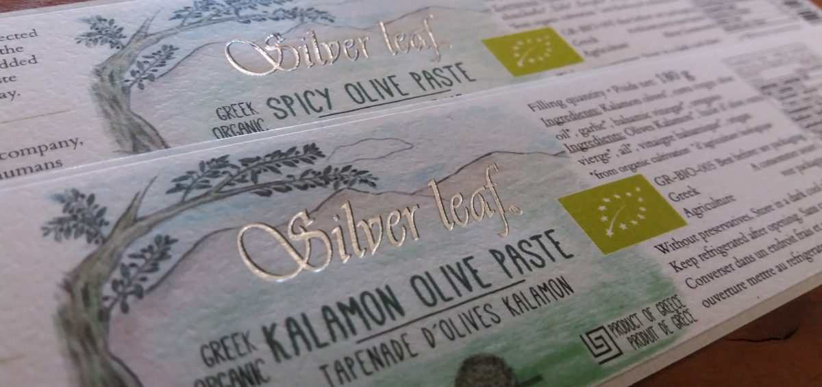 silver printing silver leaf labels