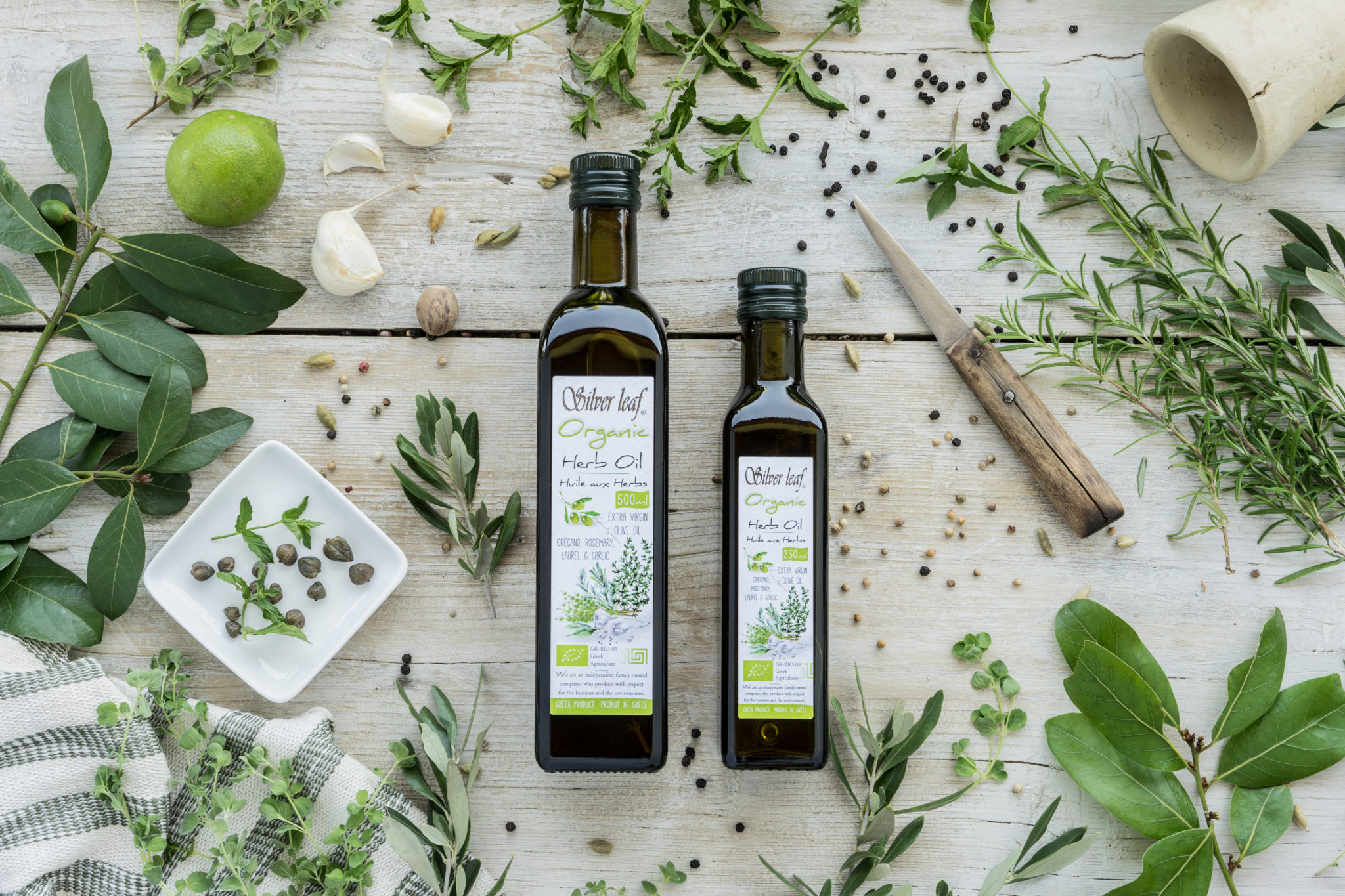 silver leaf extra virgin olive oil with herbs